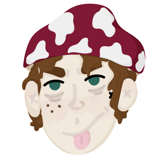 Sassy Shroom Kid Sherman Vector