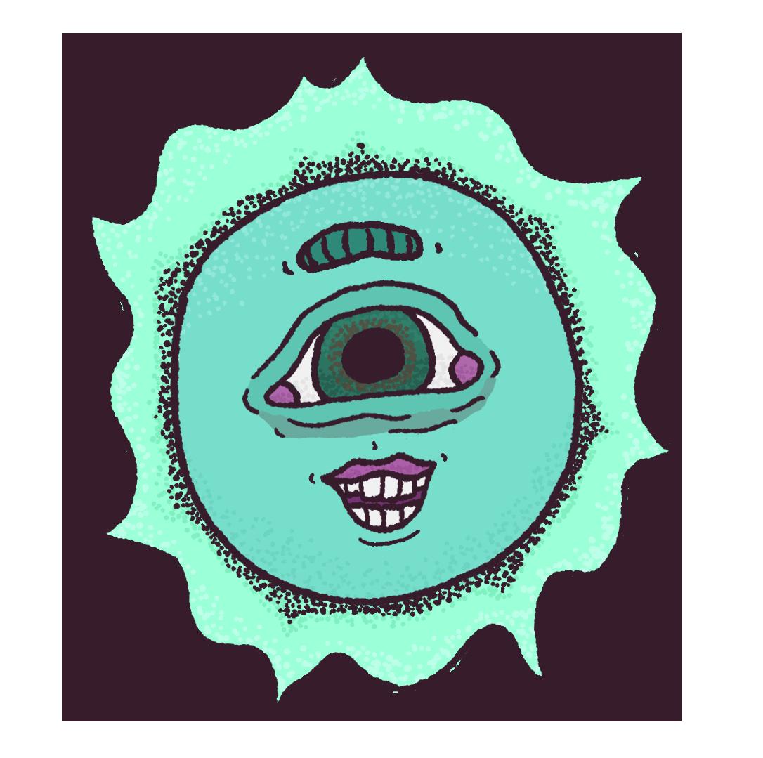 Stipple Sun Sticker