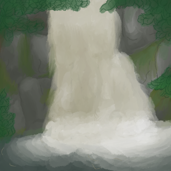 Bushkill Falls Digital Painting