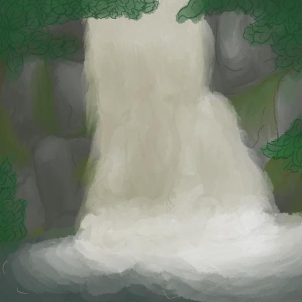 Bushkill Falls Digital Painting