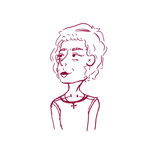 Young Wynona Ryder Fan Art Sketch