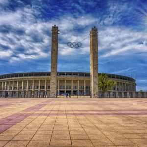 Busfahrt zum Olympiastadion Berlin