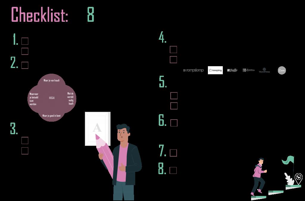 Checklist: in 8 stappen je bedrijf starten