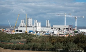 The Hinkley Point C nuclear power station