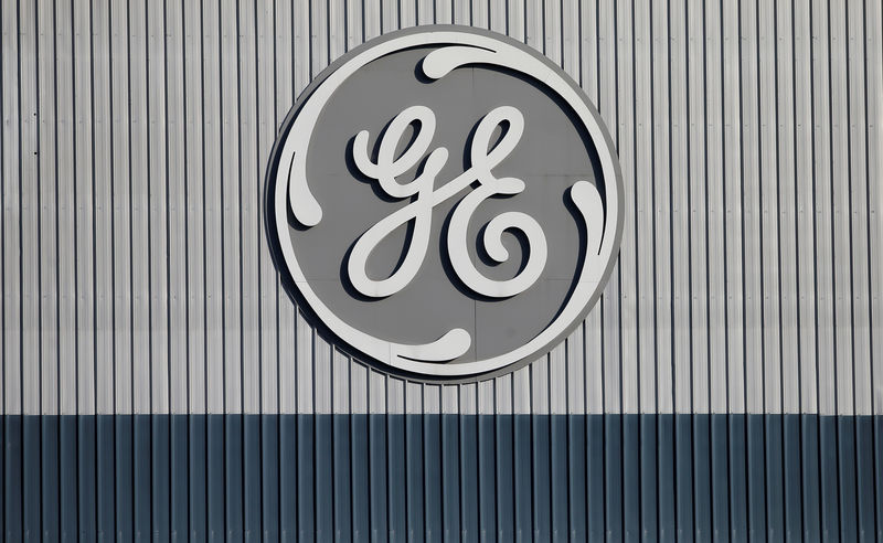 © Reuters. The logo of US conglomerate General Electric is pictured at the company's site of its energy branch in Belfort