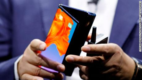 Huawei launched the Mate X fin Barcelona on Sunday.