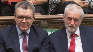 Tom Watson and Jeremy Corbyn in the Commons