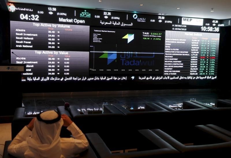 © Reuters.  Saudi Arabia shares higher at close of trade; Tadawul All Share up 0.24%