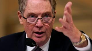"U.S. Trade Representative Robert Lighthizer testifies before House Ways and Means Committee hearing on ""U.S.-China Trade"" on Capitol Hill in Washington U.S.,"