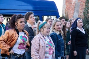 No lessons are ever learned … the Derry Girls cast in series two.
