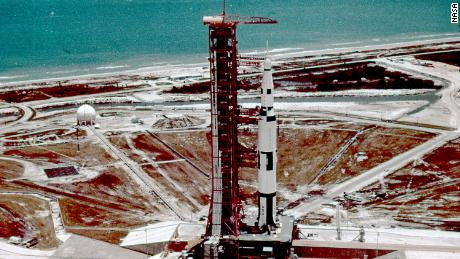 The Saturn V rocket that powered the Apollo moon missions used Pad 39A at the Cape. The launch site is now used by Elon Musk's SpaceX.
