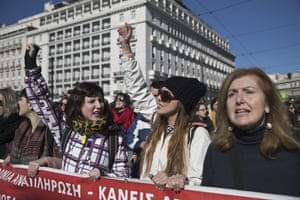 School teachers protesting in central Athens today