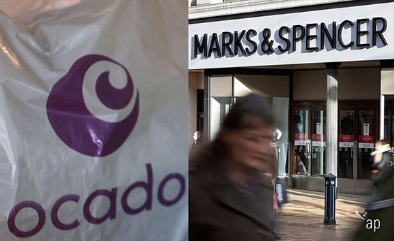 Marks & Spencer share price, Ocado share price, online shopping, dividends, rights issue