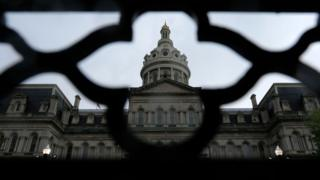 Baltimore City Hall is seen on May 2, 2019 in Baltimore, Maryland
