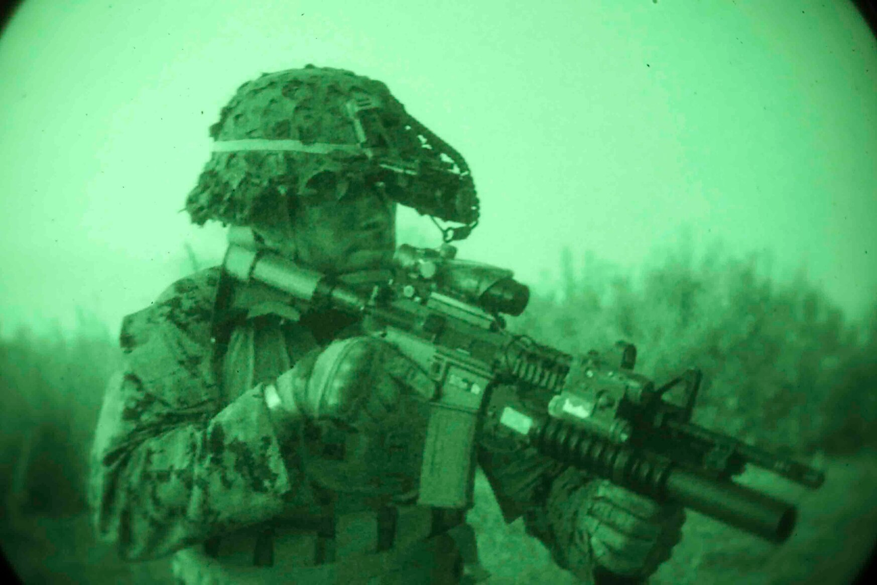 The Marine Corps and the Army are now amid retooling a force that has taken for granted the security and cover provided by the night over the past 20 years of combat operations. (Staff Sgt. Andrew Ochoa/Marine Corps)