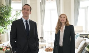 Matthew Macfadyen and Sarah Snook in HBO's Succession.
