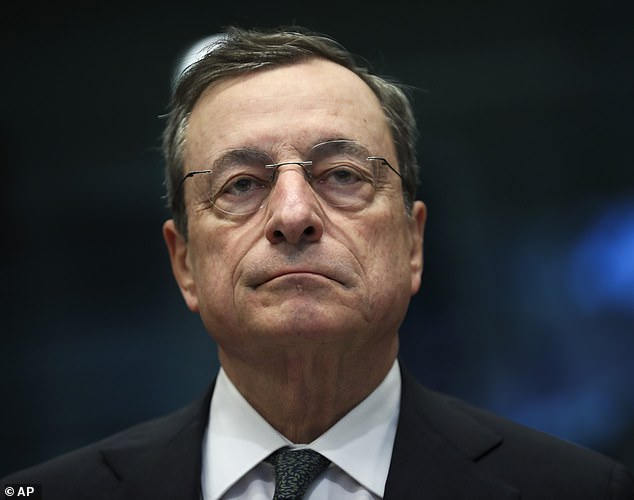 Not so optimistic: Outgoing President of the European Central Bank, Mario Draghi, said that the European economic outlook was getting 'worse and worse'