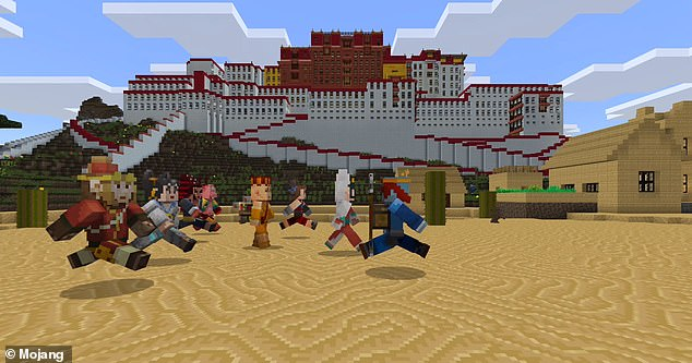 Minecraft, though simple to play, can be extremely elaborate. Picture above is a full-scale building created using the games modular building style.