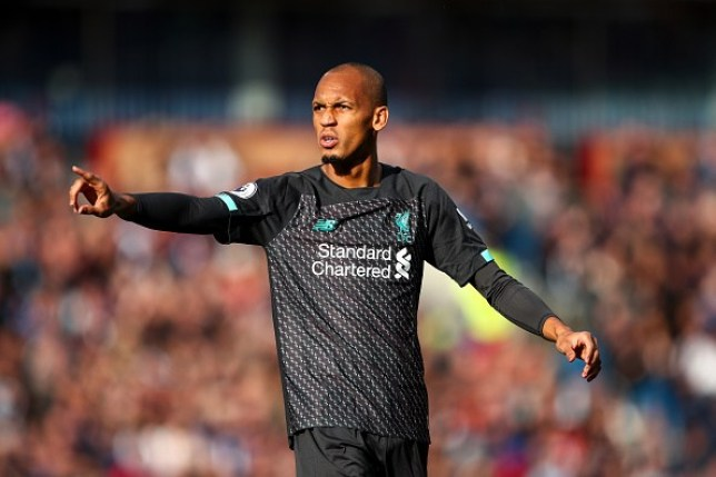 Fabinho issues instructions during Liverpool's win over Burnley