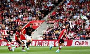 Daniel James of Manchester United scores the opening goal.