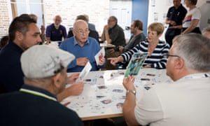 Participants at the dementia workshop design a Spurs dream team.