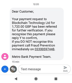 Text message scams often come from the spoofed number of your real bank, and usually query a suspicious purchase
