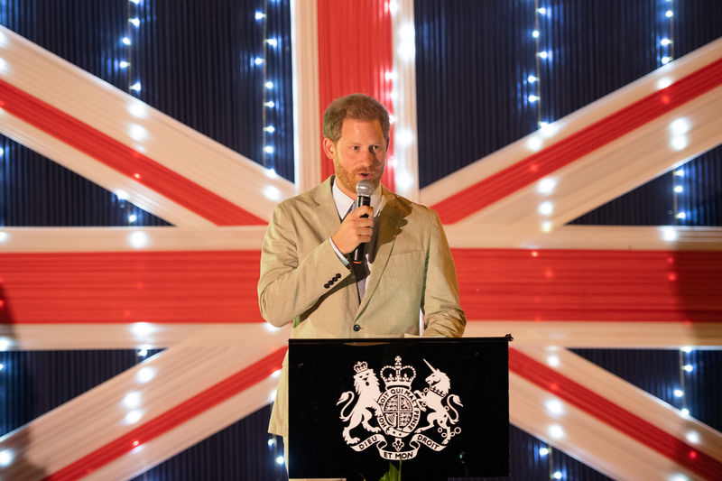 © Reuters. Britain's Prince Harry visits Malawi