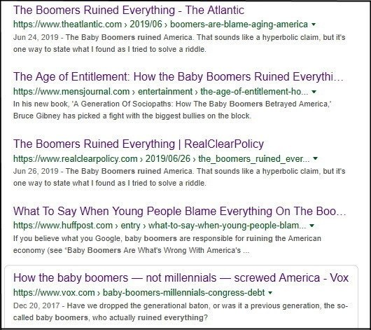 Baby Boomers ruin everything