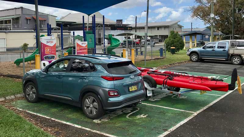 The charging station at Tully - last one before Cairns