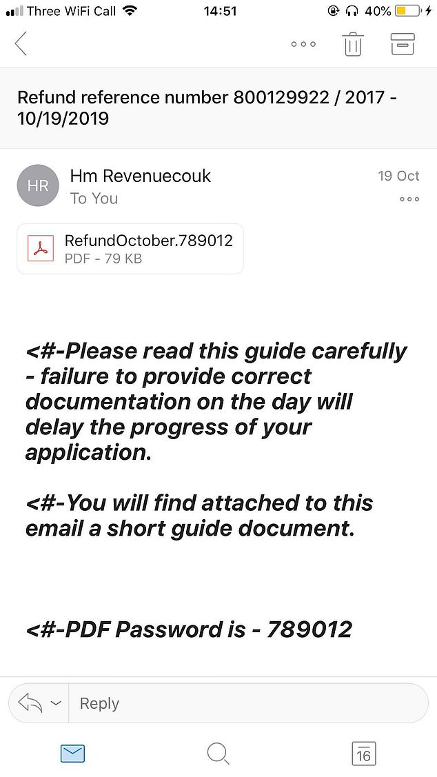 Another example of fraudulent email