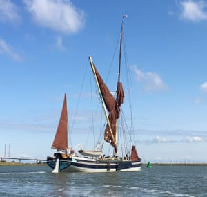 The Edith May restored Thames barge.