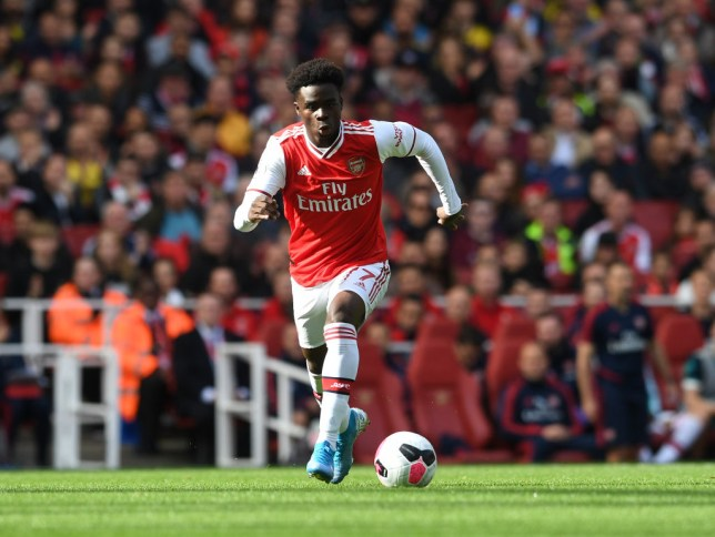 LONDON, ENGLAND - OCTOBER 06: Bukayo Saka of Arsenal during the Premier League match between Arsenal FC and AFC Bournemouth at Emirates Stadium on October 06, 2019 in London, United Kingdom. (Photo by David Price/Arsenal FC via Getty Images)