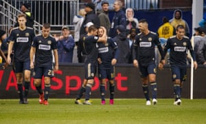 Marco Fabian and teammates celebrate his extra-time goal