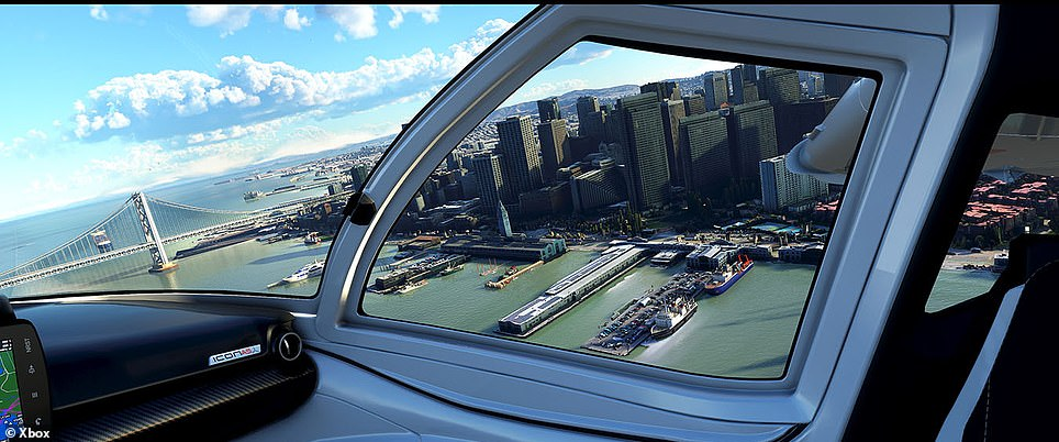 Now you can soar above the New York skyline (pictured), whiz by machu picchu and fly over giraffes in Africa without leaving your home