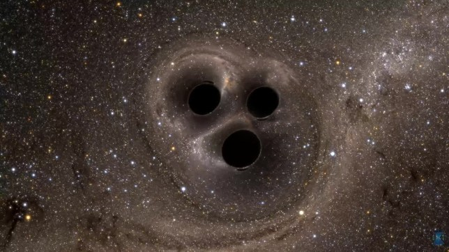 Three black holes are locked in a sinister death dance, scientists discover