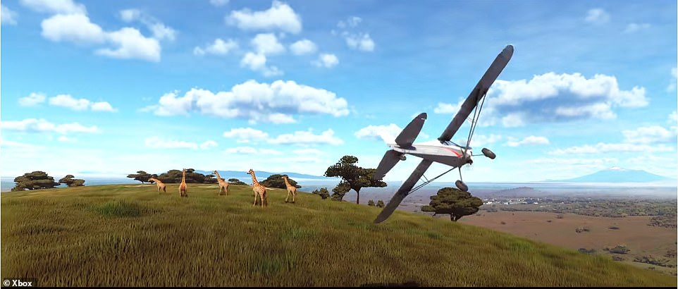 In Flight Simulator, Asobo¿s technology is digitizing 196.9 million square miles of land, such as the plains in Africa (pictured), man-made landmarks and open sea area