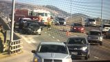 5 Car Chain Reaction Accident on Pocatello Overpass