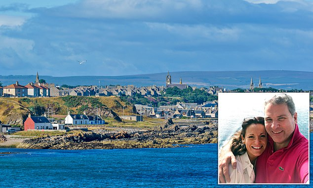 Wrangle:Stuart and Penelope Forsyth andthe remote fishing town of Buckie on the Moray Firth coast