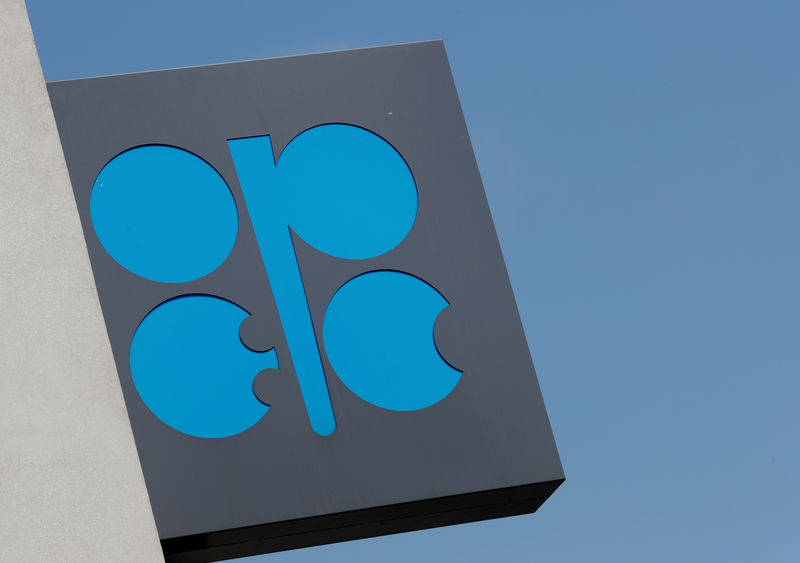 © Reuters. The logo of the Organisation of the Petroleum Exporting Countries (OPEC) is seen at OPEC's headquarters in Vienna