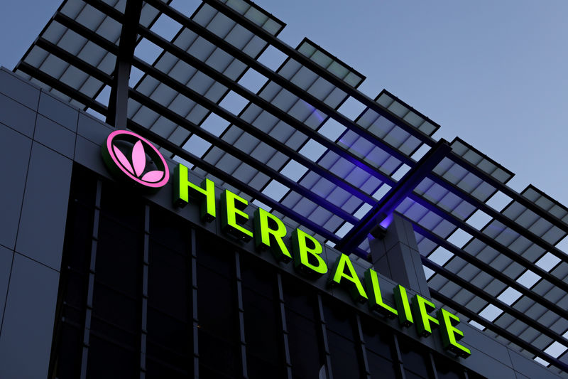 © Reuters. A Herbalife sign is shown on a building in Los Angeles, California