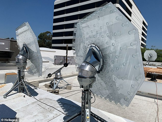 Heliogen's system employs AI to help position its array of mirrors to precisely fixate on a point - an advantage that has aided its ability to generate extreme temperatures