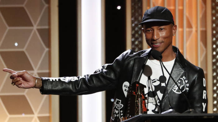 2019 Hollywood Film Awards - Show - Beverly Hills, California, U.S., November 3, 2019 - Pharrell Williams accepts the Hollywood Song Award for
