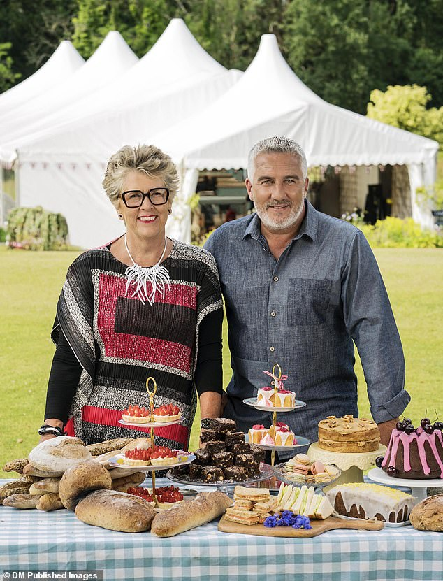 The TV chef is a judge on popular baking showGreat British Bake Off. She is pictured alongside co-judge Paul Hollywood