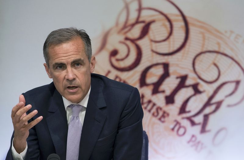 © Reuters.  Carney BOE Succession Eased by Tory Win as Growth Stays Weak