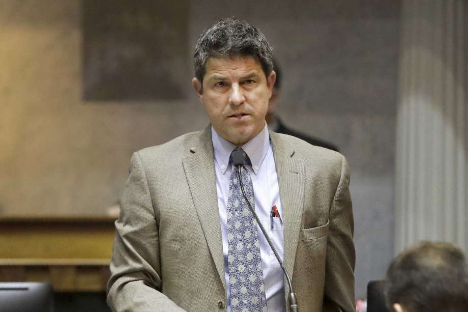 FILE - In this April 23, 2019, file photo Indiana Senate President Pro Tem Rodric Bray, R-Martinsville, speaks during a session at the Statehouse, in Indianapolis. Indiana's Republican Statehouse leaders are firmly against taking any steps toward following neighboring states in legalizing marijuana use during the upcoming legislative session. Bray said he doesn't see the value of allowing marijuana use at the same time lawmakers are considering raising the legal age for smoking cigarettes from 18 to 21. Photo: Darron Cummings, AP / Copyright 2019 The Associated Press. All rights reserved.