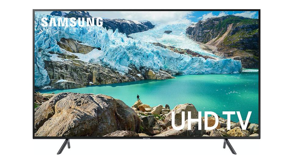 65-inch Samsung 7-series TV on a whit background.