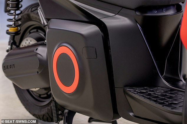 The motorcycle has a range of 71 miles between charges and will typically cost just 60-70p to fully charge