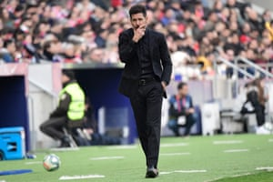 Simeone during the stalemate with Leganés.