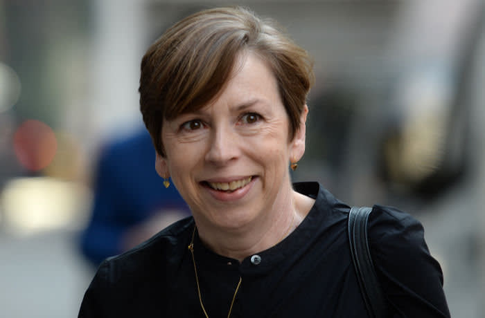 Fran Unsworth director of news and current affairs at the BBC arrives at the Rolls Building in London for the continuing legal action with Sir Cliff Richard over the BBC coverage of a police raid at his apartment in Berkshire in August 2014.