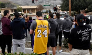 Fans gather to pay their respect to Kobe Bryant after his death.